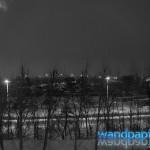 Nachts im verschneiten Leipzig