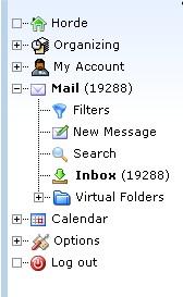 Horde mail Postfach voll