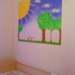 Bild an der Wand