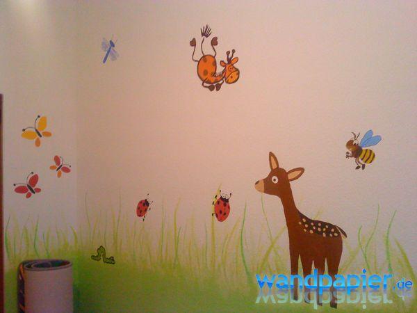 Wandgestaltung Kinderzimmer Wiese ~ Die beste Idee Idee für ...