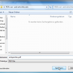 entsperrtes PDF speichern