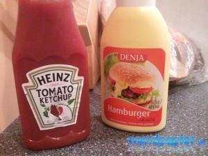 Ketchup und Hamburgersauce