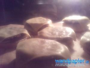 Burger-Unterseiten nochmal im Ofen